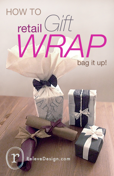 how to retail gift wrap relev design