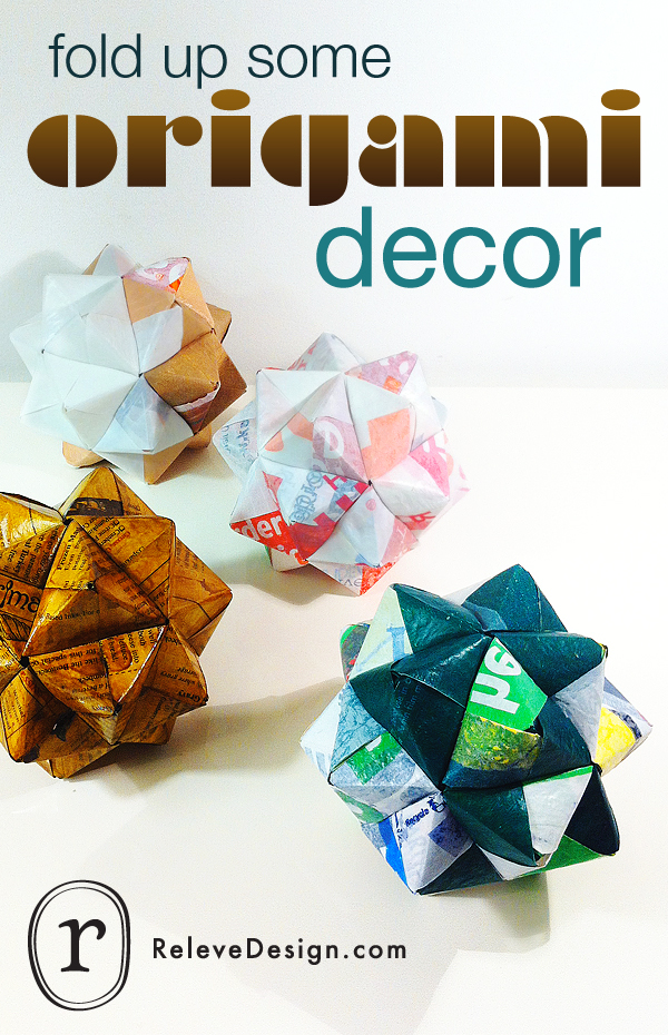 HOW TO make medium-sized icosahedral origami accessories : Relevu00e9 ...