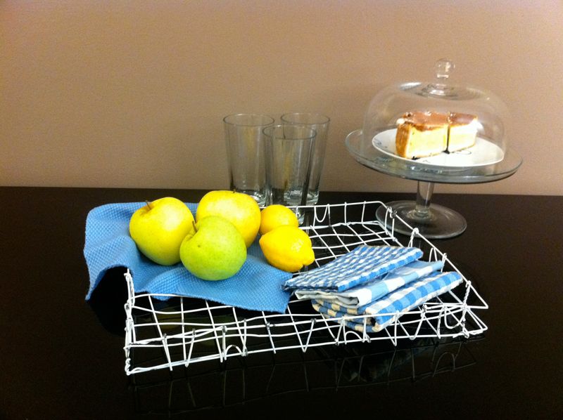 Wire hanger tray