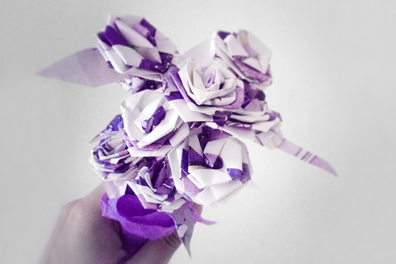 paper roses by Sira